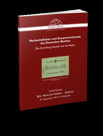 Markenheftchen und Zusammendrucke des Deutschen Reiches – Die Sammlung Rudolf van de Weyer