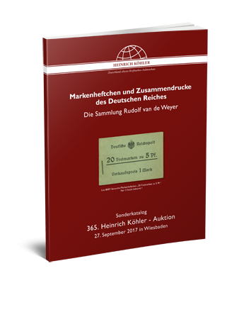 Stamp booklets and setenants of the German Empire – The Rudolf van de Weyer Collection